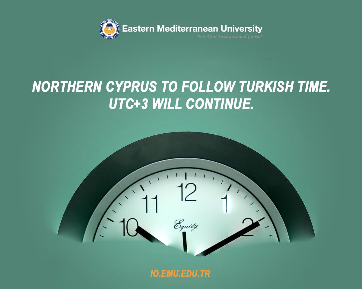 ​Northern Cyprus to Follow Turkish Time.