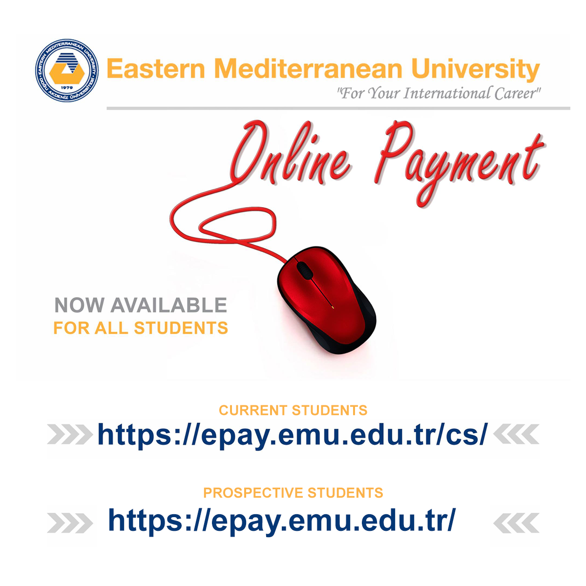 Online Payment System Activated For All EMU Students