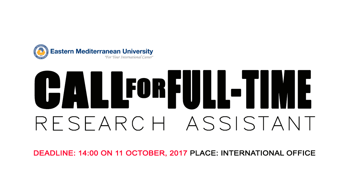 Call For Full-Time Research Assistant