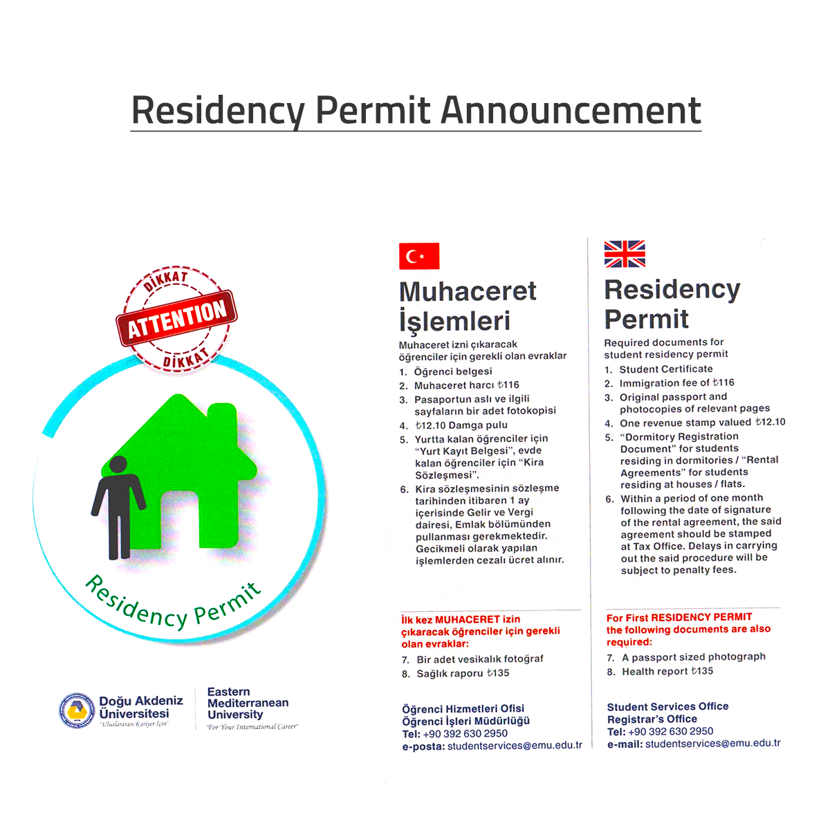Residency Permit Announcement